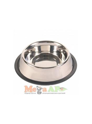 Миска металлическая  на резине 1,5 л