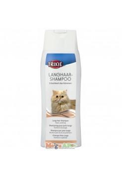 Шампунь для длинной шерсти для котов 250мл TRIXIE