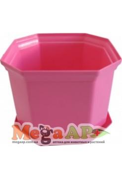 Вазон Дама 18 розовый 3.55л