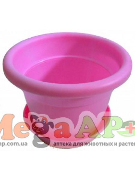 Вазон Антик 10 розовый 0.5л