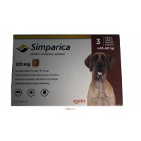 Симпарика (Simparica) 40-60кг таблетки от блох и клещей для собак