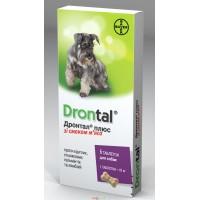 BAYER Дронтал для собак антигельминтик широкого спектра на 10 кг веса