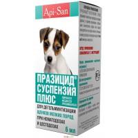 Празицид-суспензия Плюс для щенков мелких пород, 6 мл, Апи-Сан