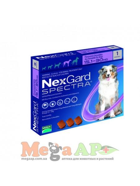 Нексгард Спектра 15-30 кг L таблетка от блох и клещей для собак 1 табл