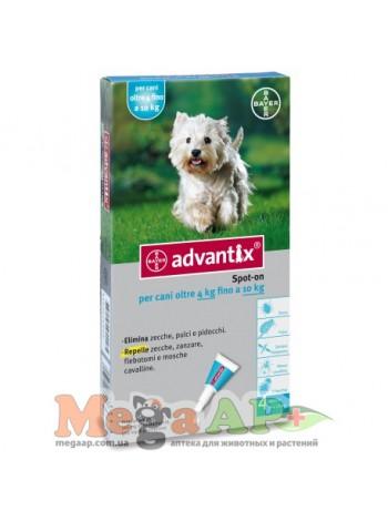 BAYER Advantix для собак вес 4 - 10кг