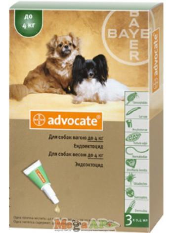 Advocate (Адвокат) капли на холку для собак весом до 4 кг