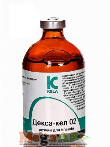 Декса-кел 02 100 мл противовоспалительный, противоаллергический, антистрессовый препарат