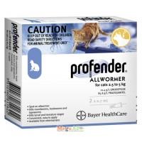 Профендер капли от гельминтов для кошек весом от 2,5 кг до 5,0 кг