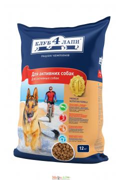 Клуб 4 лапы Актив сухой корм для собак