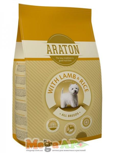 Сухой корм ARATON ADULT LAMB & RICE для взрослых собак всех пород 1кг