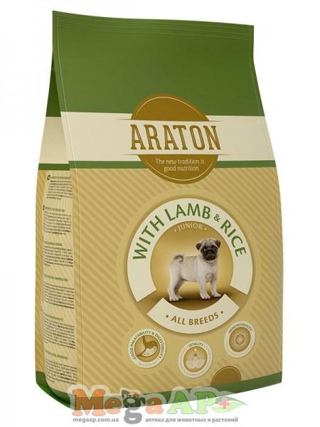 Сухой корм ARATON JUNIOR WITH LAMB & RICE для молодых собак всех пород с ягненком и рисом 1кг