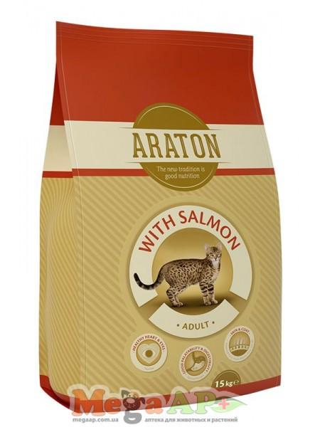 Сухой корм ARATON ADULT SALMON для котов с лососем 1кг