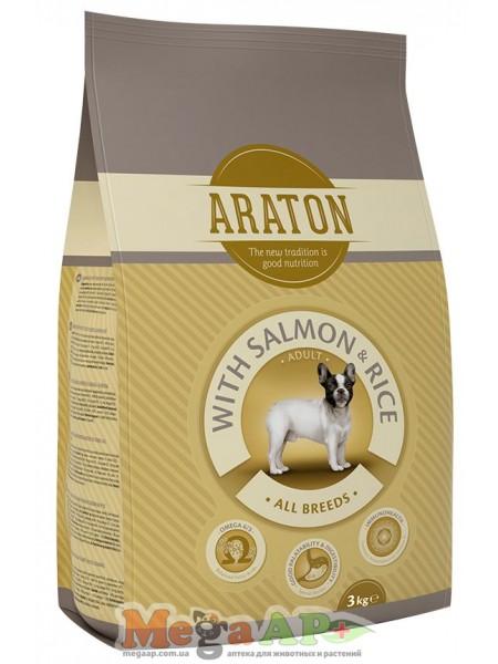 Сухой корм ARATON ADULT SALMON & RICE для взрослых собак всех пород 1кг