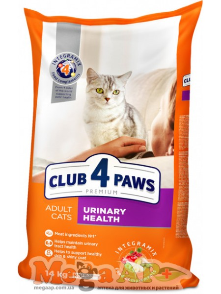Сухой корм для котов Клуб 4 Лапы Urinary Премиум 1кг