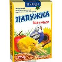 Повседневный корм Природа Папужка Йод + Колор для попугаев  575г