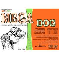 Сухой корм для собак МегаДог (MegaDog)  средних и крупных пород 10кг