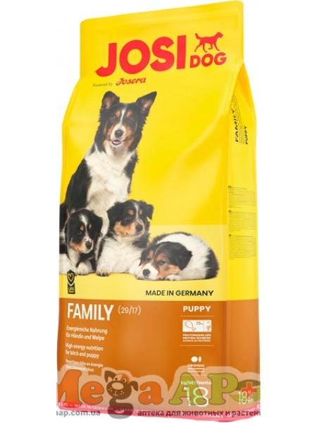 Josera JosiDog Family корм для щенков и кормящих сук 18 кг