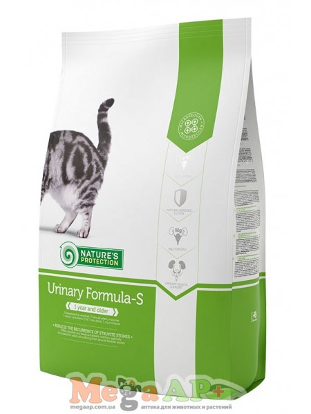 Сухой корм для кошек NATURE'S PROTECTION URINARY FORMULA-S 1кг
